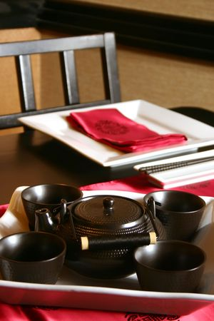 Formal table setting for a Japanese meal. Shallow DOF. Stock Photo - 220526