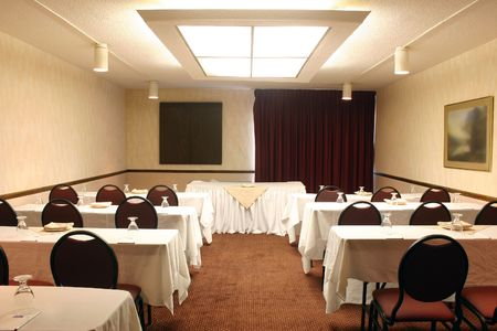 emptiness: Shot of an upscale conference room