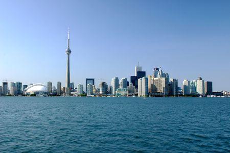 Shot of Toronto skyline Editorial