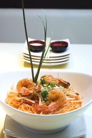 Thai dish of Shrimp Pad Thai