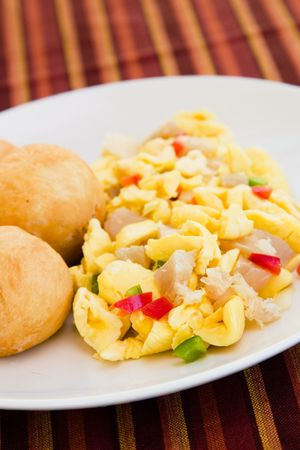 codfish: Caribbean style vegetable dumpling (ackee) served with saltfish or codfish.
