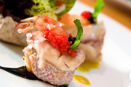 highend: Shrimp appetizer wrapped in scallops