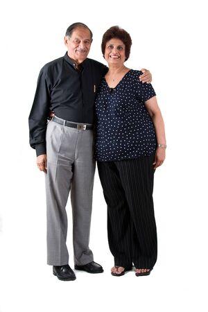 Portrait of a happy elderly East Indian couple photo