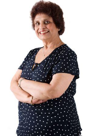 obeso: Retrato de una mujer india oriental uso de vestimenta tradicional india