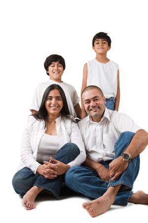 Portret van een Oost-Indische Familie Stockfoto