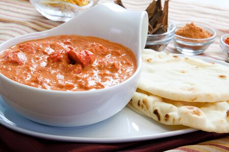 Creamy butter chicken made the way its made in Punjab Banco de Imagens