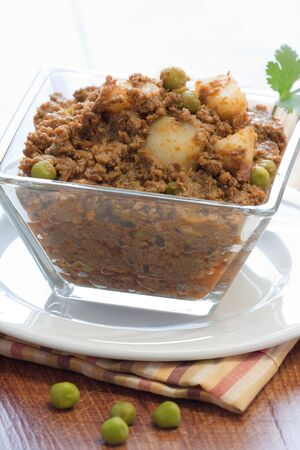 Also known as keema mattar, this spicy curry is a favorite among Indian food lovers photo