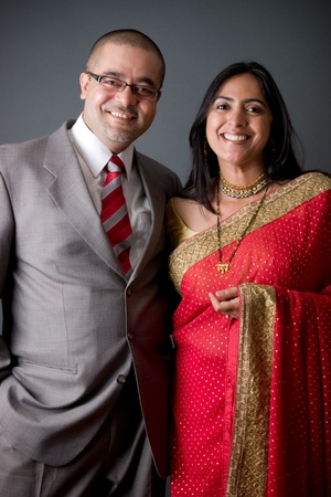 indian couple: Portrait of a young East Indian couple