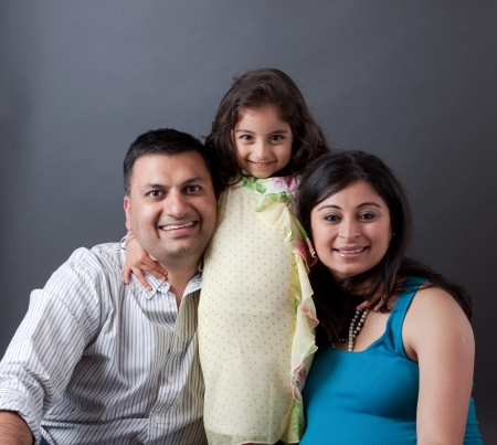 Image of an East Indian family with the father, mother and their daughter Stock Photo - 17452603