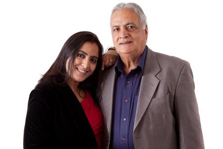 father and daughter: Chân dung cô lập của một người cha, indian đông và con gái