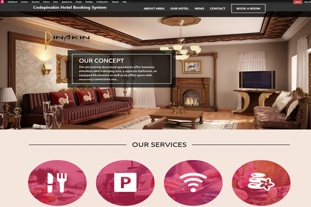 web designing: Hotel booking system