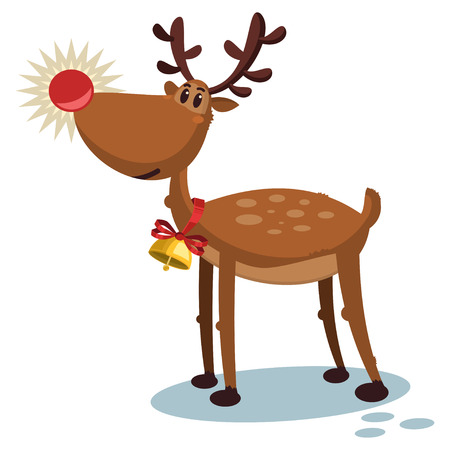 Cute deer cartoon vector Illustration