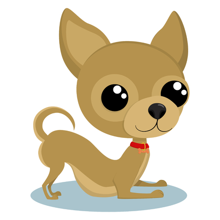 Puppy Chihuahua cartoon character. Vector illustration isolated on white background. Ilustração