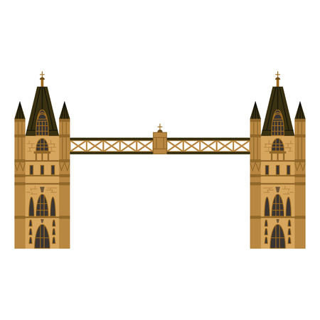 London Tower Bridge vector flat icon isolated on white background.