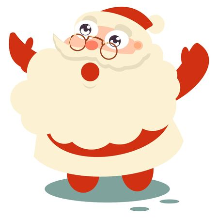 Santa Claus is a symbol of Christmas. Vector cartoon character isolated on a white background.