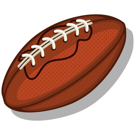 Rugby ball. Cartoon vector illustration isolated on a white background.