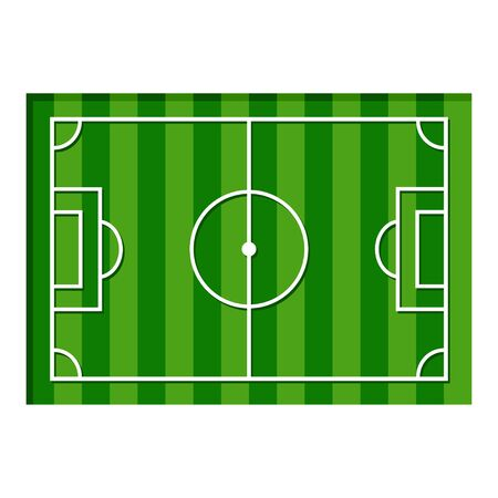 Green football or soccer field vector illustration isolated on white background.  イラスト・ベクター素材
