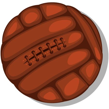 Retro soccer ball. Cartoon vector illustration isolated on a white background.