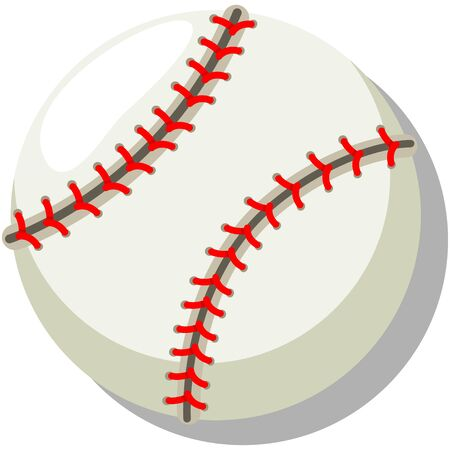Baseball. Cartoon vector illustration isolated on a white background. 일러스트