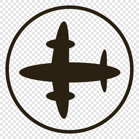 Airplane vector icon isolated on a transparent background. 일러스트