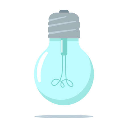 Light bulb vector flat icon isolated on white background. Иллюстрация