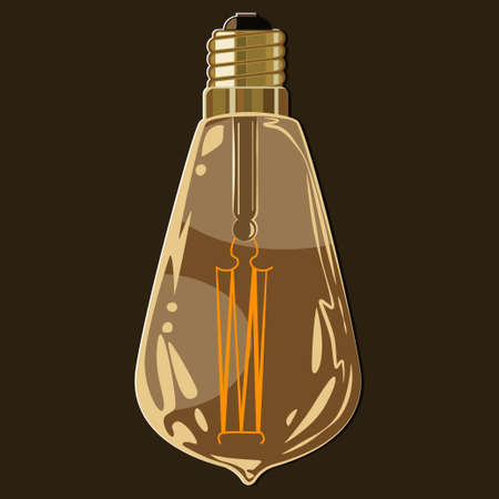 Vintage flickering light bulb vector icon isolated on a background. Illustration