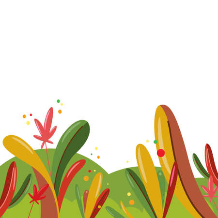 Abstract autumn flat background. Vector illustration.
