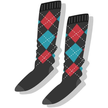 Socks vector illustration isolated on white background.