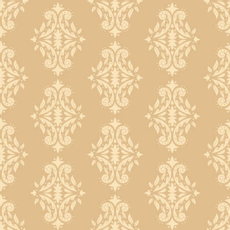 Vintage wallpaper vector seamless pattern. Background for wallpaper, wrapping, packing and backdrop.