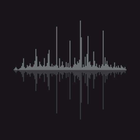 Sound wave vector illustration isolated on background.