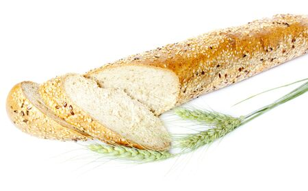 assortment of baked bread isolated on white Stock Photo - 10031704
