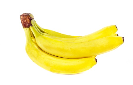 Sheaf of bananas isolated on a white background