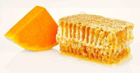 honeycomb and pumpkin Stock Photo