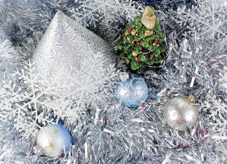 cristmas tree on New Year toys photo