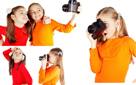 a happy little girl photographs Stock Photo
