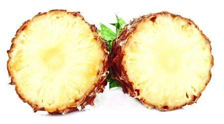 Fresh slice pineapple isolated on white background photo