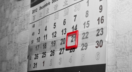 Calendar of 21 December 2012, End of the world photo