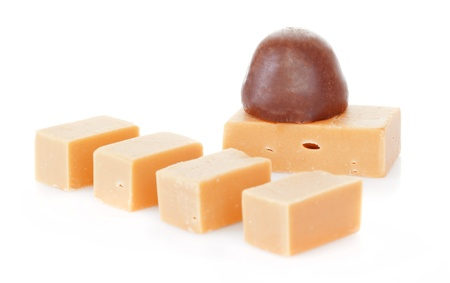Caramel isolated on a white background Stock Photo - 17015008
