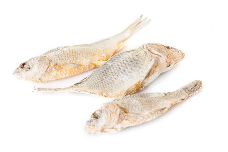 appetizing dry and salted fish Stock Photo