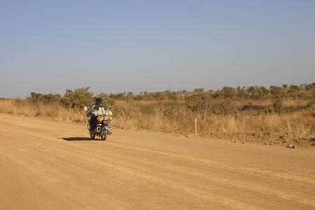 angola: Road in Angola Stock Photo