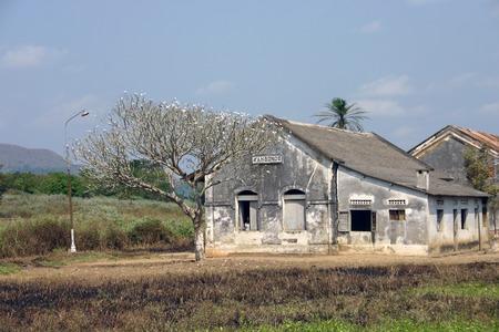 portuguese: Colonial village in Angola. Portuguese construction.