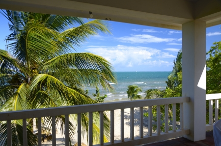 View from a verandah in the tropics