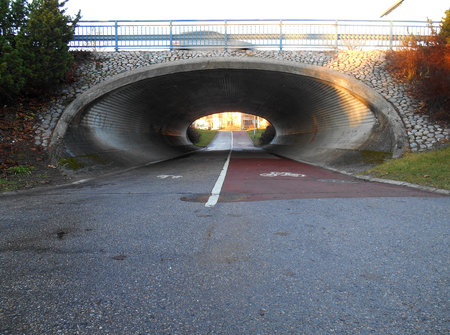 underpass: Underpass of cycleway