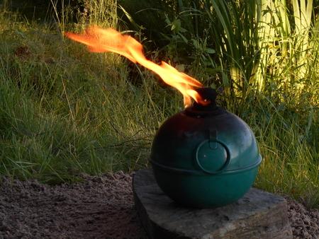oil lamp: Sphere outdoor oil lamp