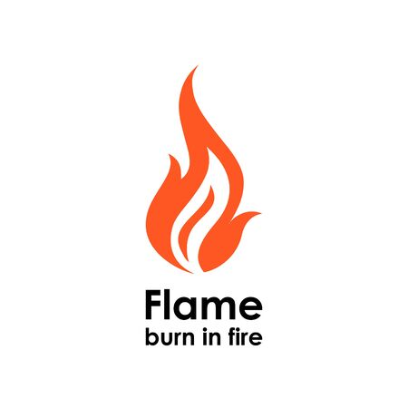 logotype: Logo design vector template. Fire logotype icon Illustration