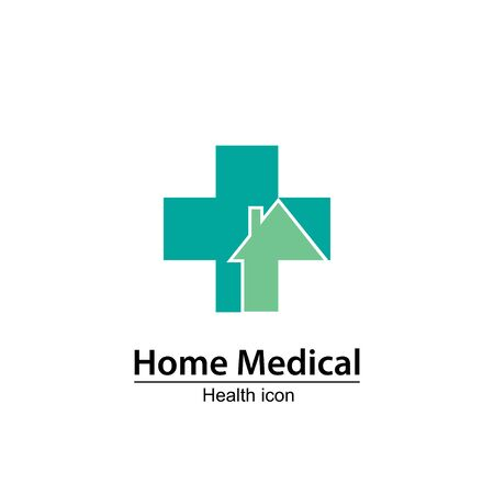 nurse home: Medical icon design, vector illustration. Nursing home.Home Medical symbol Illustration