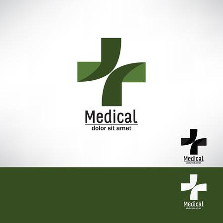 cruz roja: farmacia médica cruz logotipo de la plantilla de diseño Medic icono de la cruz. la identidad vectorial editable