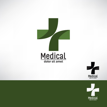 Medical pharmacy cross logo design template Medic cross icon. Vector identity Editable Illustration