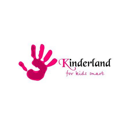 Vector logo voor kinderclub en kindertuin. Vector illustratie Logo