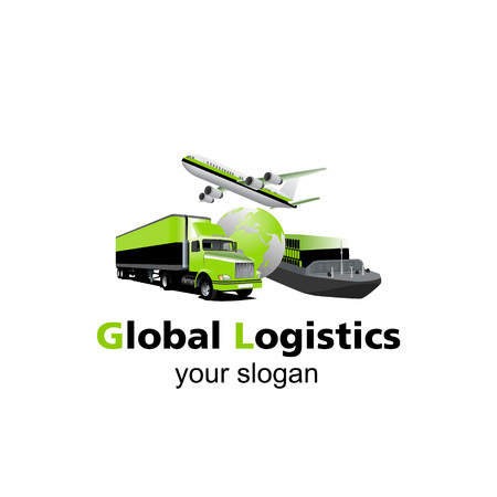 trucking: Air cargo, trucking, maritime shipping.On-time delivery. Vehicles designed to carry large numbers. You can easy change colors or move each element.
